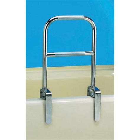 bathtub safety maxiaids dual level bathtub safety rail chrome finish