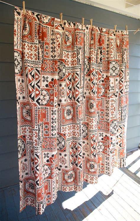 Tribal Print Curtains Vintage Curtain Panels Pair 1970 S Tribal Print Sears