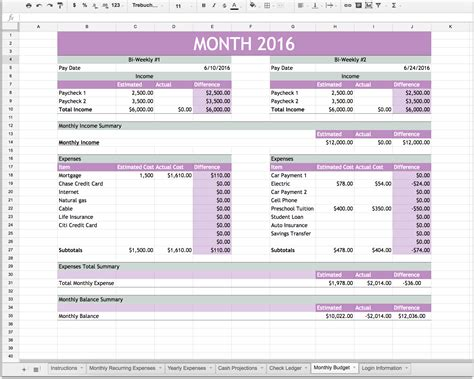 Personal Finance Excel Template Financial Planning Excel Sheet Spreadsheet Templates For Personal Finance Excel Template