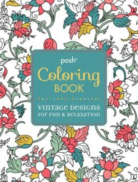 animals coloring book relaxation designs books posh coloring book vintage designs for relaxation