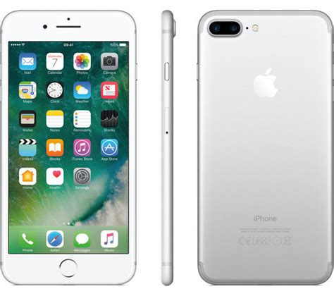 buy apple iphone 7 plus silver 256 gb free delivery currys