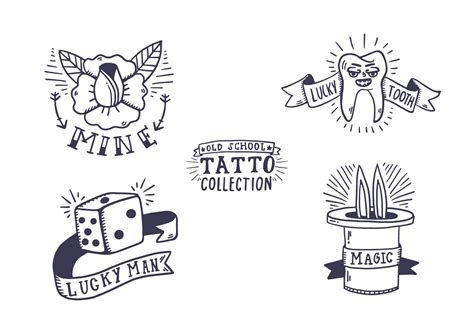 tattoo old school vector free old school tattoo collection download free vector