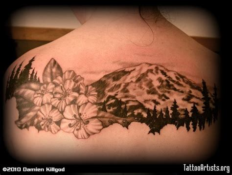 watercolor tattoo washington state washington leg i drew something like this for a