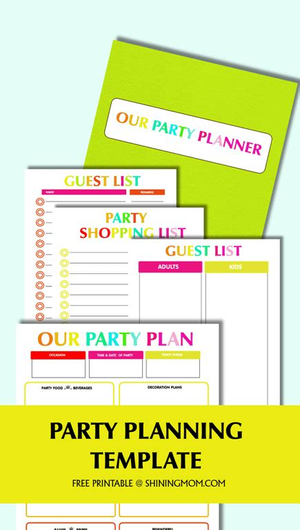 Free Printable Party Planning Template Free Birthday Planning Templates