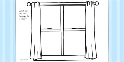 window frame drawing sheet windows worksheets draw sheets