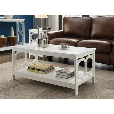 White Coffee Table For Sale Convenience Concepts Omega White Coffee Table On Sale