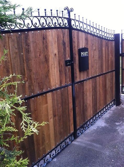 wrought iron gates wooden gates driveway double gates railings dn1
