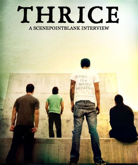 thrice interview interviews thrice features scene point blank music