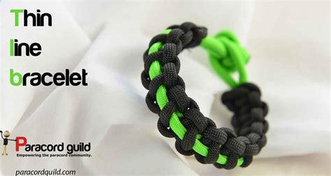 Thin line paracord bracelet   Paracord guild