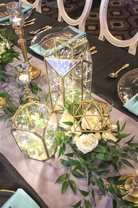 Anting Tusuk Pearl Decorated Flower Shape Design Wp Black 2018 modern wedding trend terrarium geometric details ideas deer pearl flowers