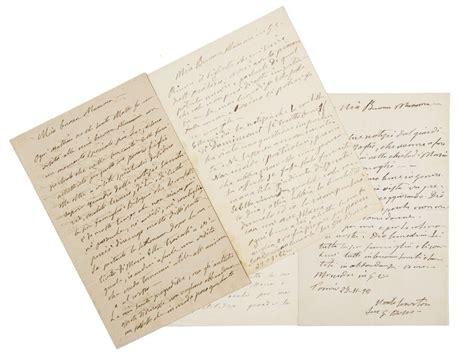 libreria salesiana firenze bosco santo insieme di 4 lettere autografe