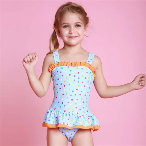 P140 Nn Dress Polkadot Set 2015 summer bathing suits child one dot print bambina kid swim wear 3 colors