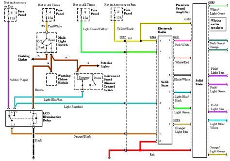 audio wiring diagram  gt mustang ford mustang forum