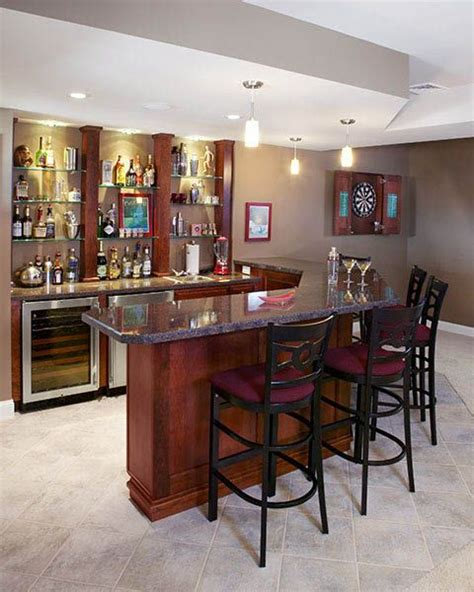charming home basement bar designs with marble countertop traditional l shaped basement bar with high countertop