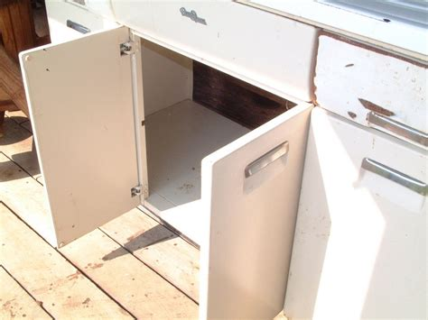 vintage metal kitchen cabinets vintage 1950 s kitchen metal sink cabinet with storage splash boards