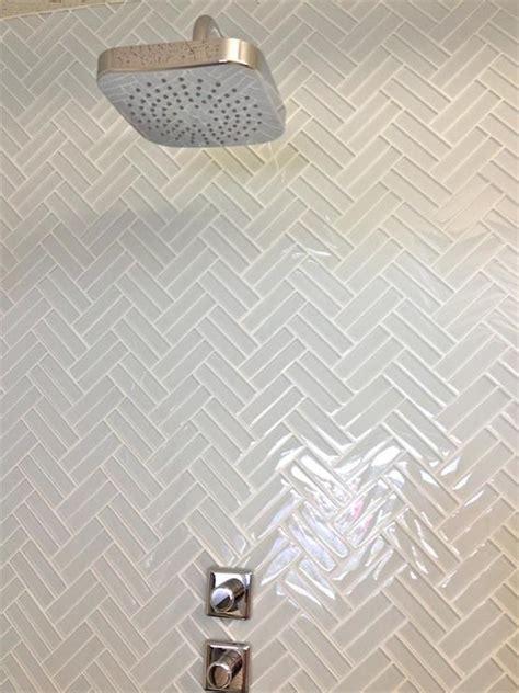 herringbone tiles bathroom mod walls lush 1x4 cloud weave glass herringbone tile