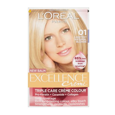 loreal excellence creme hair colour l or 233 al excellence creme with pro keratin permanent