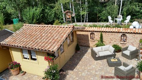 Gartenhaus Mediterran by Romana Villaggio Farbe Antica Deruta Bilder