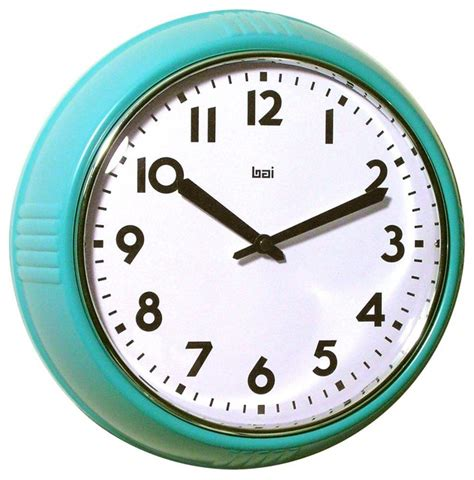 wall clocks bai school wall clock turquoise modern clocks by amazon
