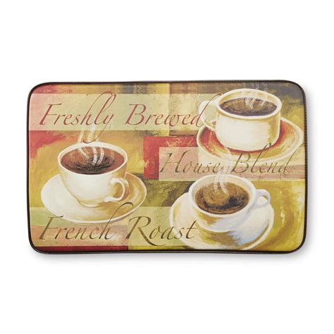 Coffee Kitchen Mat by Chef Mats Cushioned Kitchen Floor Mat Coffee Cups Shop