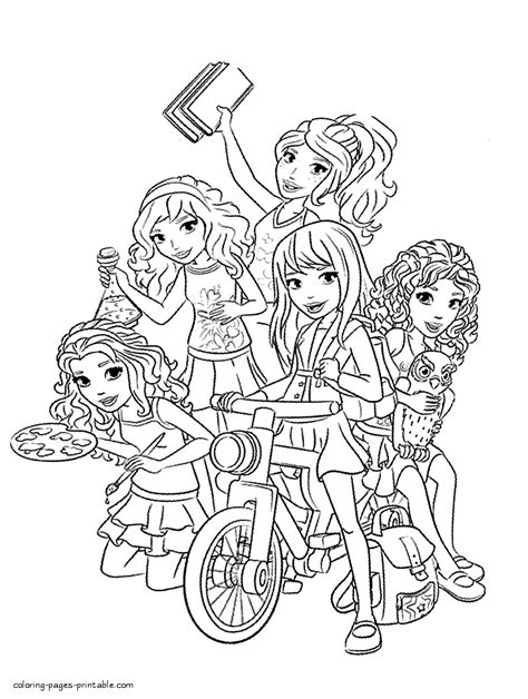 Legos Coloring Pages To Print by Lego Friends Coloring Pages To Print