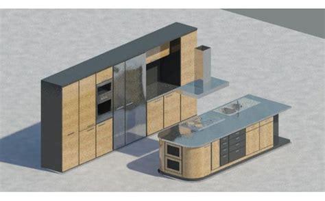 Revit Kitchen Cabinet Family Kitchen With Isle For Revit Architecture 2011 Revit Architecture And Kitchens