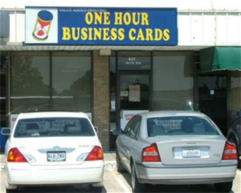 One Hour Business Cards