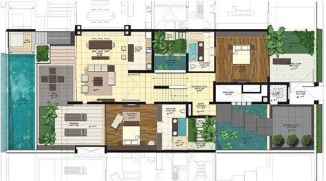 villa floor plan villa design plans house plans 44621