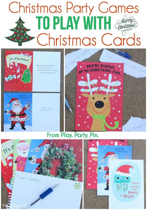 christmas party games to play with christmas cards