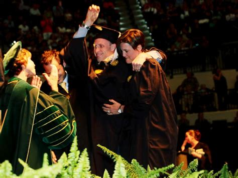 Do Mba Students Walk At Graduation mba student who uses wheelchair walks across stage at