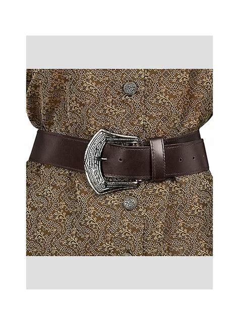 pirate leather belt brown maskworld