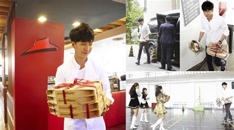 lee seung gi university lee seung gi as pizza hut s best looking delivery man soompi