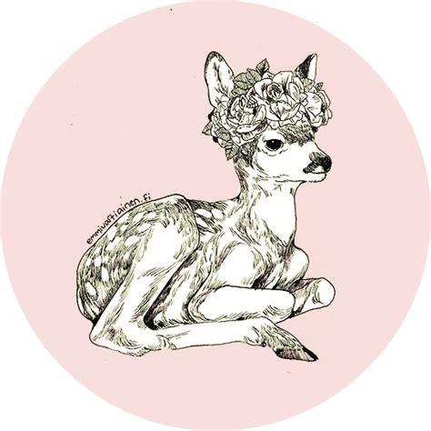 Jelly Rabbit Deer Flower Iphone 5 6 6 Plus7 7 Plus искусство олень нарисованное цветы картинка 2262990