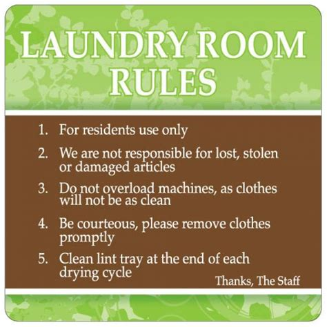 apartment design rules laundry room sign free shipping laundry room rules