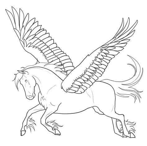 Pegasus Coloring Pages Free Printable Pegasus Coloring Pages For Kids