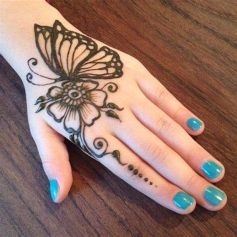 butterfly finger tattoo designs back butterfly mehndi pattern with flower starting on