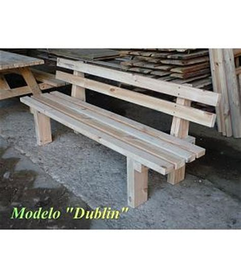 bancos de madera para exterior banco madera tratada para exterior dublin longitud 2