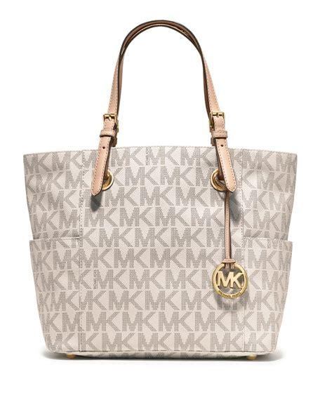 michael michael kors jet set logo monogram item tote bag