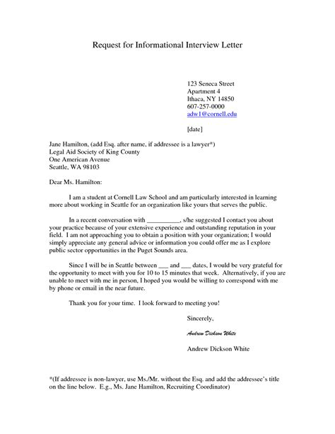 Thank You Letter Requesting Second exles of thank you letters for informational interviews