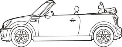 How To Draw A Mini Cooper Mini Cooper Convertible Clip At Clker Vector