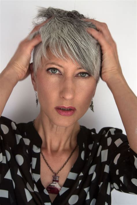 best hairstylist in portland or for women over 50 136 best badass grey hair images on pinterest going gray