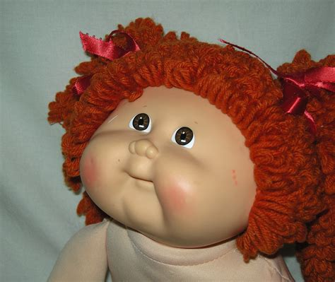 pics of cabbage patch dolls hairstyles sale cabbage patch girl red popcorn hair vintage 1989 an
