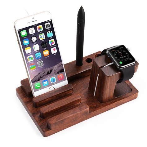 smartphone stand for desk amazon com apple watch stand hamaxa iwatch bamboo wood