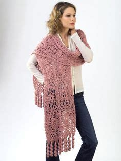red heart pattern wr1811 crocheted wrap with slits red heart pattern wr1811