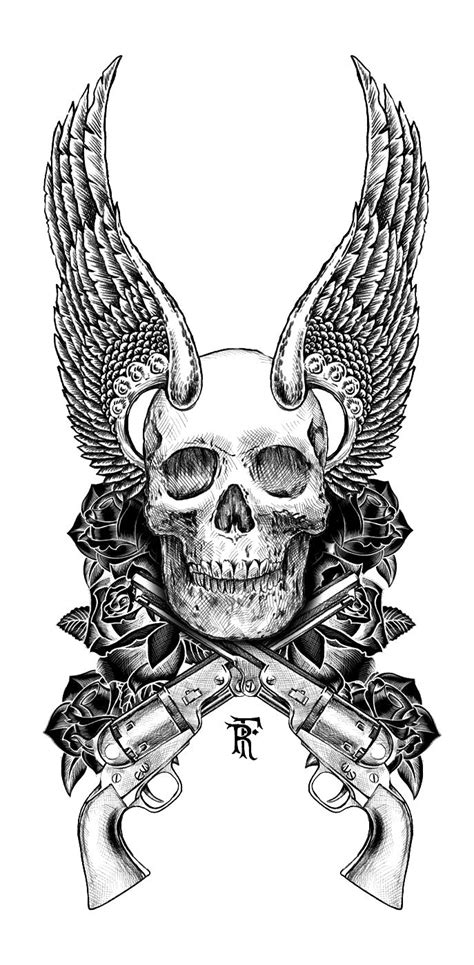 skull with wings tattoo designs skull wings mrs inked if you