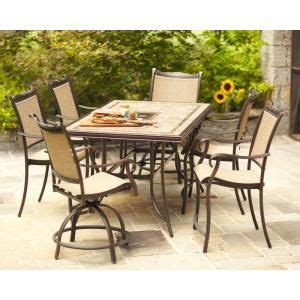 Outdoor Dining Set High Top Patio Home Depot And Bays On
