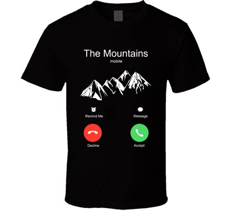 design t shirt app iphone the mountains are calling mobile funny iphone incoming