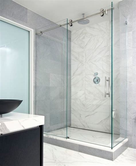 glass sliding bathroom door best 25 glass shower enclosures ideas on pinterest