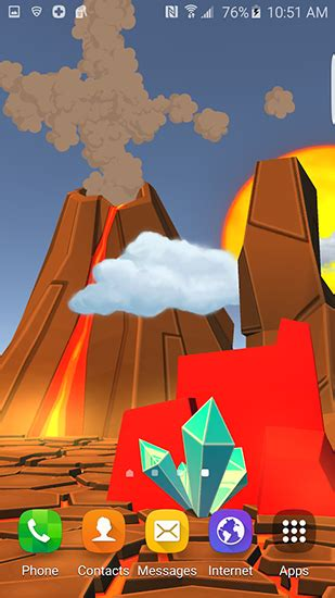 live wallpaper cartoon apk cartoon volcano 3d live wallpaper for android cartoon