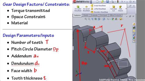solidworks tutorial introduction 1 solidworks gear tutorial introduction to prof gear